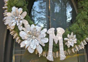Monogram Wreath close up 300x211 Monogram Wreath