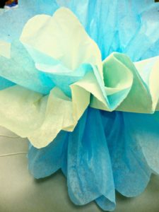 Separating Tissue Paper Puffs 225x300 Crafty Project: Decorative Tissue Paper Puffs