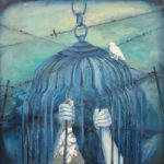Mixed Media Painting: Caged