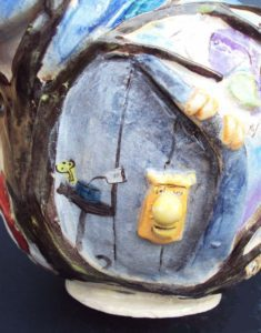 Alice and Wonderland Teapot The Door 235x300 Ceramics: Alice and Wonderland Tea Set