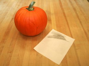 Art Lesson Pumpkin Relief Carving Color Back 300x225 Craft Project: Artistic Pumpkin Carving