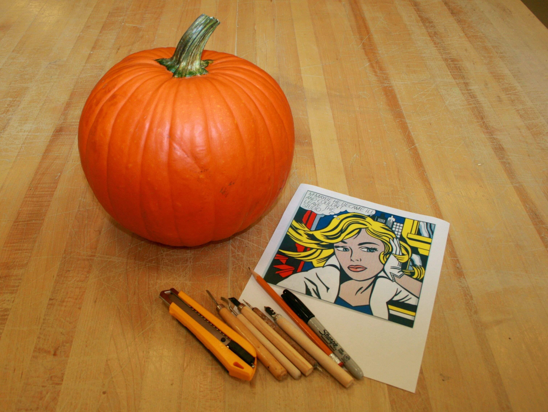 Craft project artistic pumpkin carving look between the