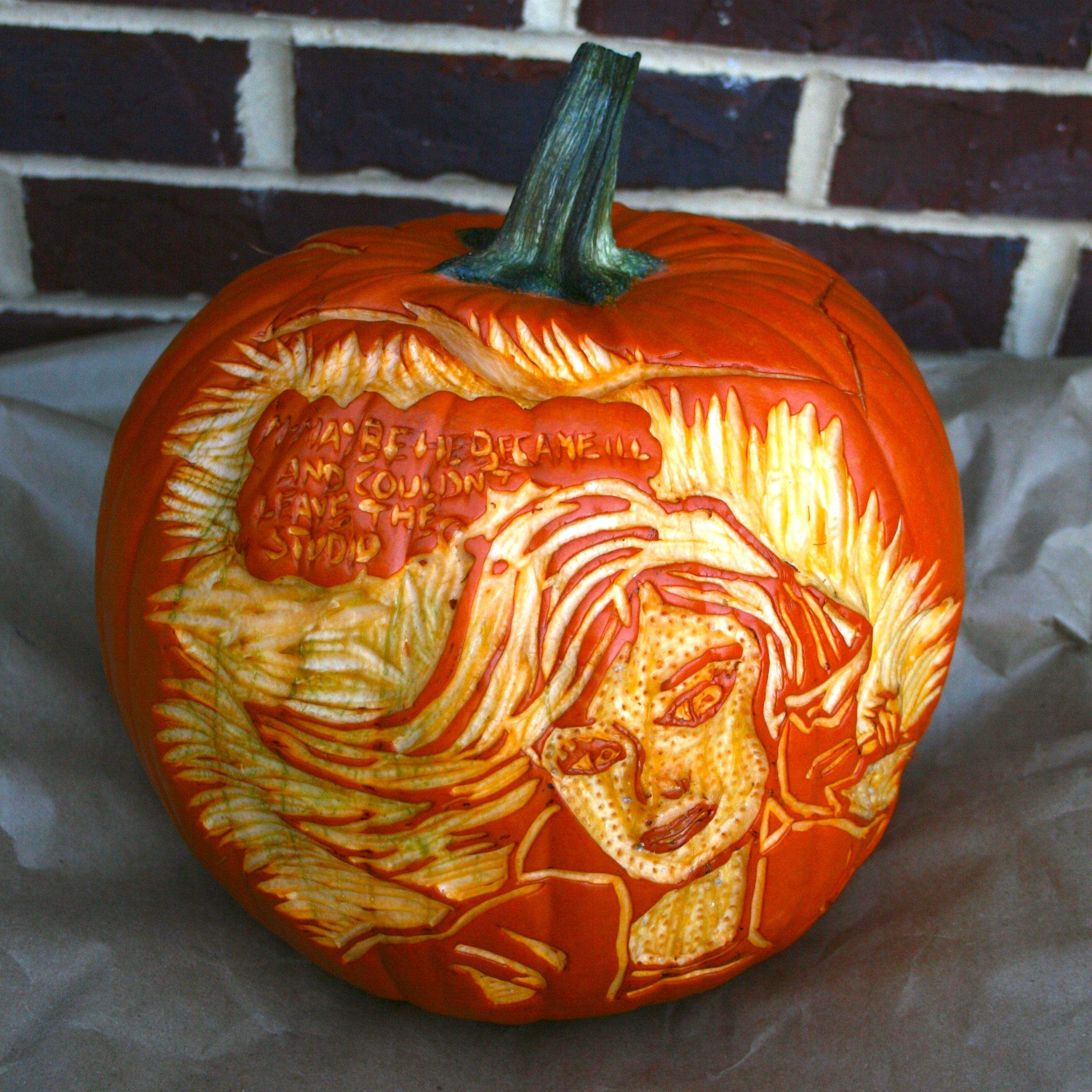 Craft project artistic pumpkin carving