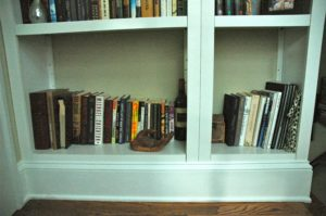 Crafty Project Built in Bookcase Bottom 300x199 Craft Project: Fake Built in Bookcase