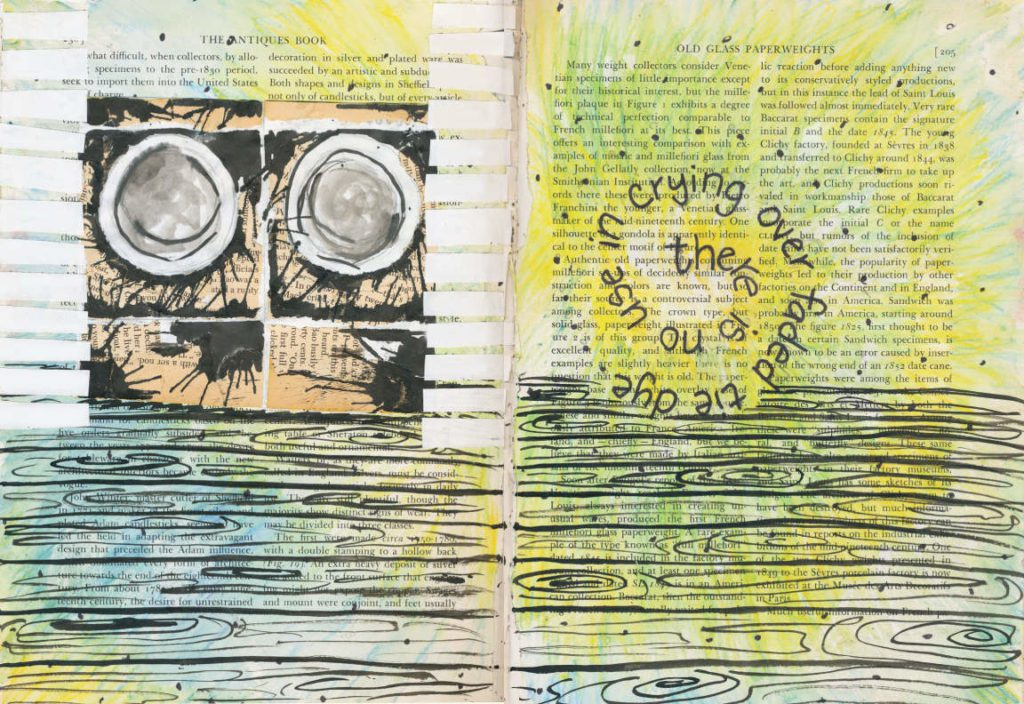 Visual Journal Page 13 Tie Dye 1024x704 Visual Journal Page 13: The Tie Dye Cry