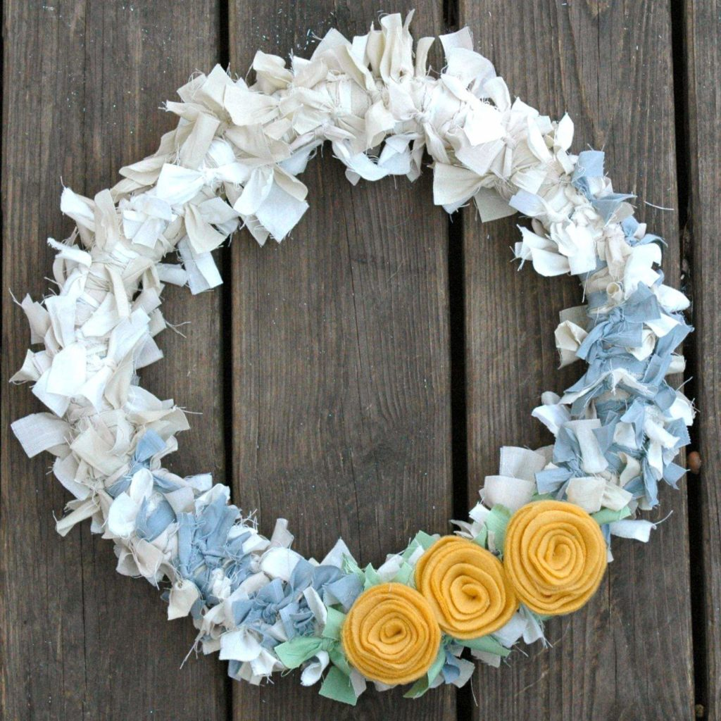 Craft Project-Scrap Fabric Wreath