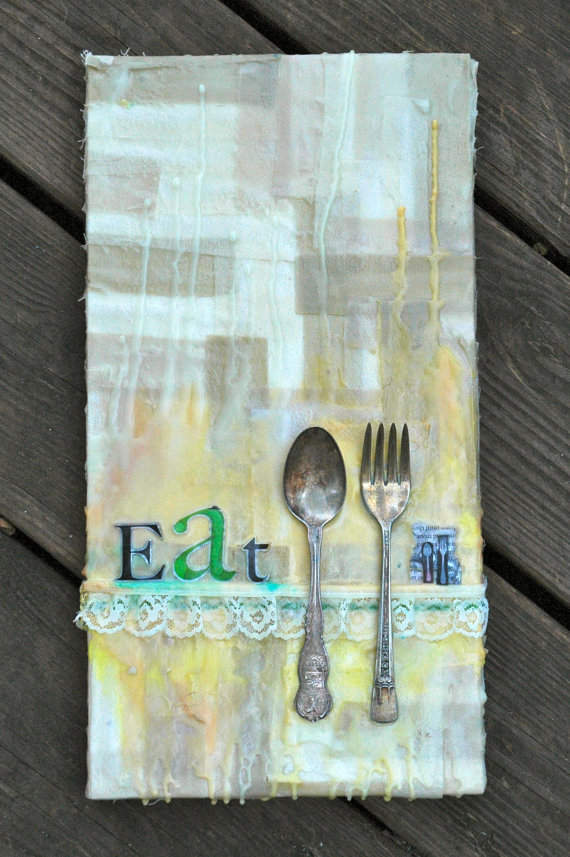 Mixed Media Art-Eat