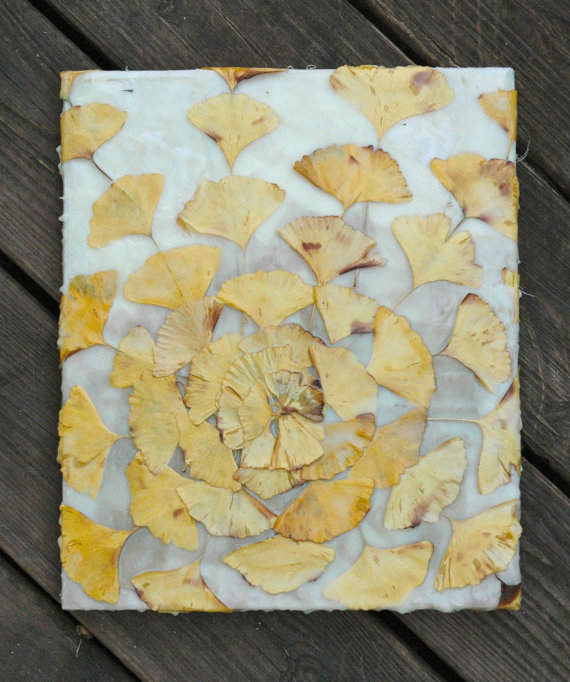 Mixed Media Art-Ginkgo Leaves