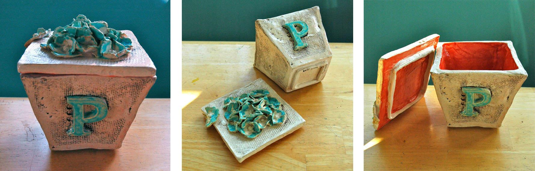 """Ceramic """"P"""" Box"""