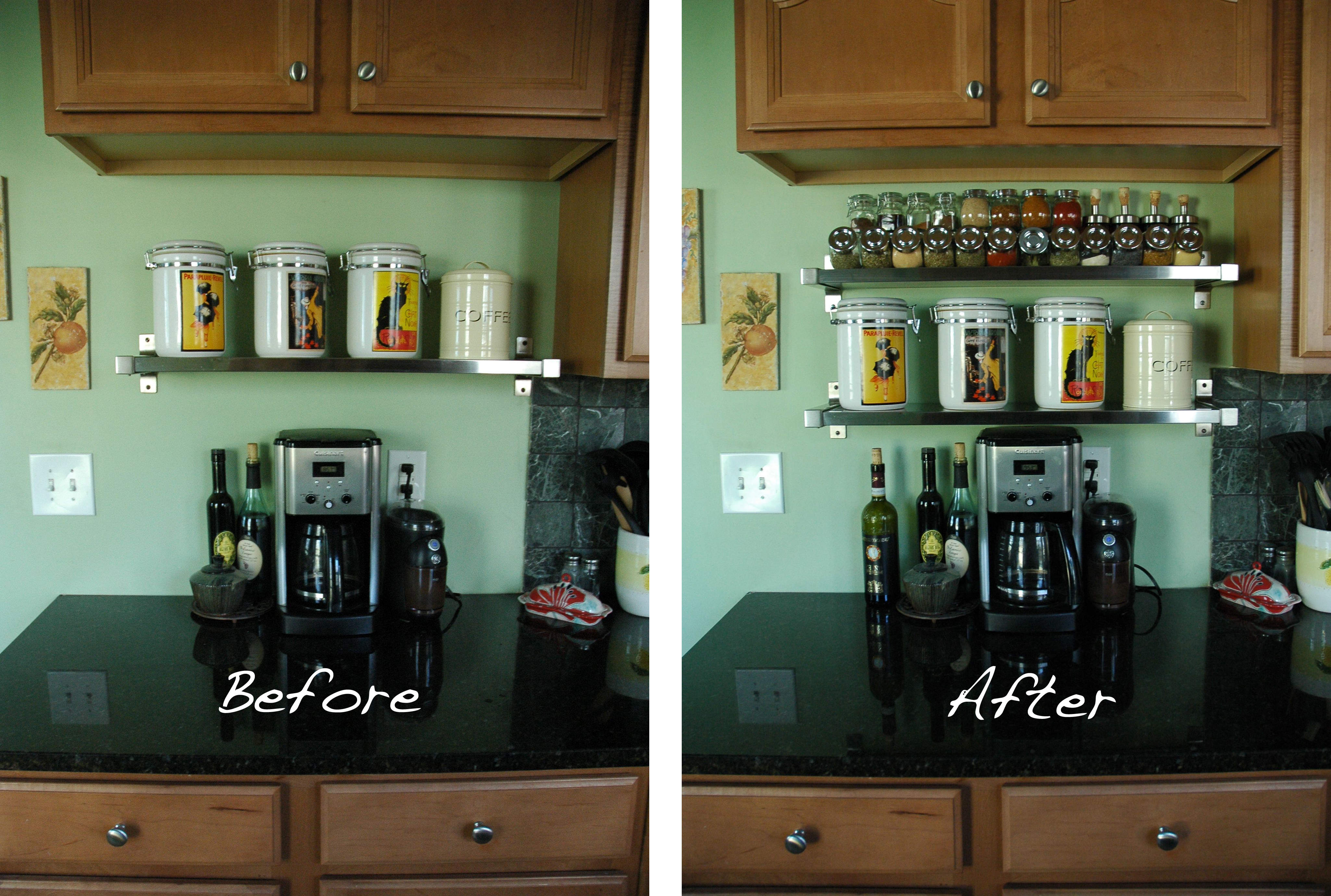 DIY Spice Rack Before And After