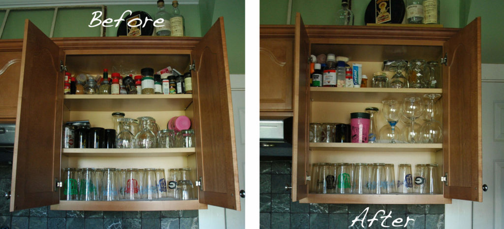 DIY Spice Rack-Cabinet Before and After