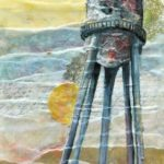 Mixed Media Art: Encaustic Water Tower