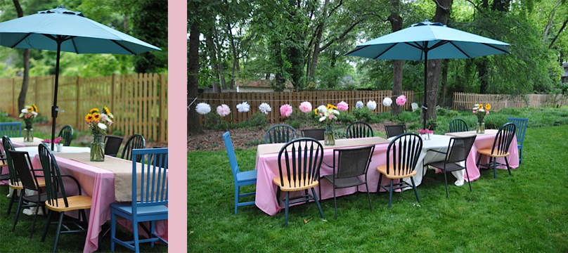 Baby Shower on a Budget-Outdoor Table Set Up