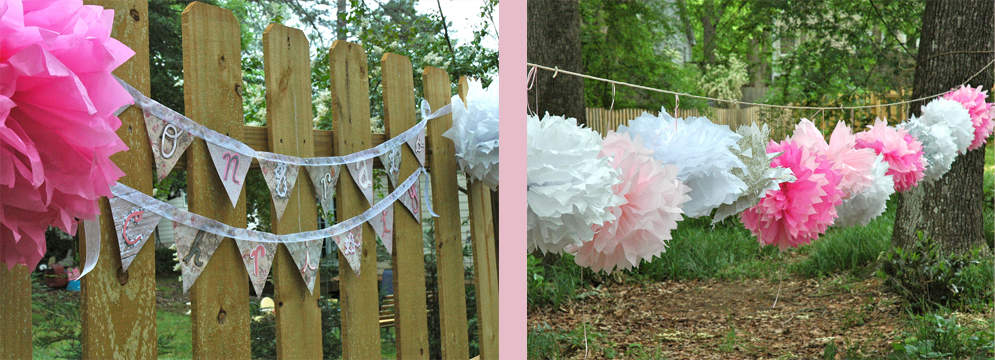 Baby Shower on a Budget-Tissue Paper Puffs