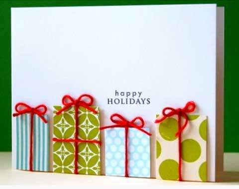 Guest post by alicia lawrence five creative diy christmas for Crafty christmas cards ideas