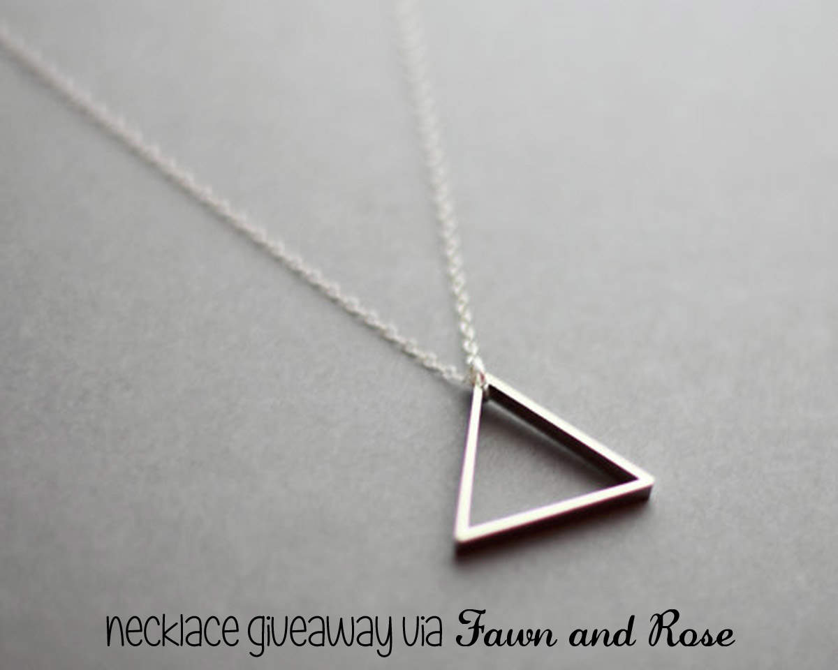 Silver Triangle Necklace Giveaway copy