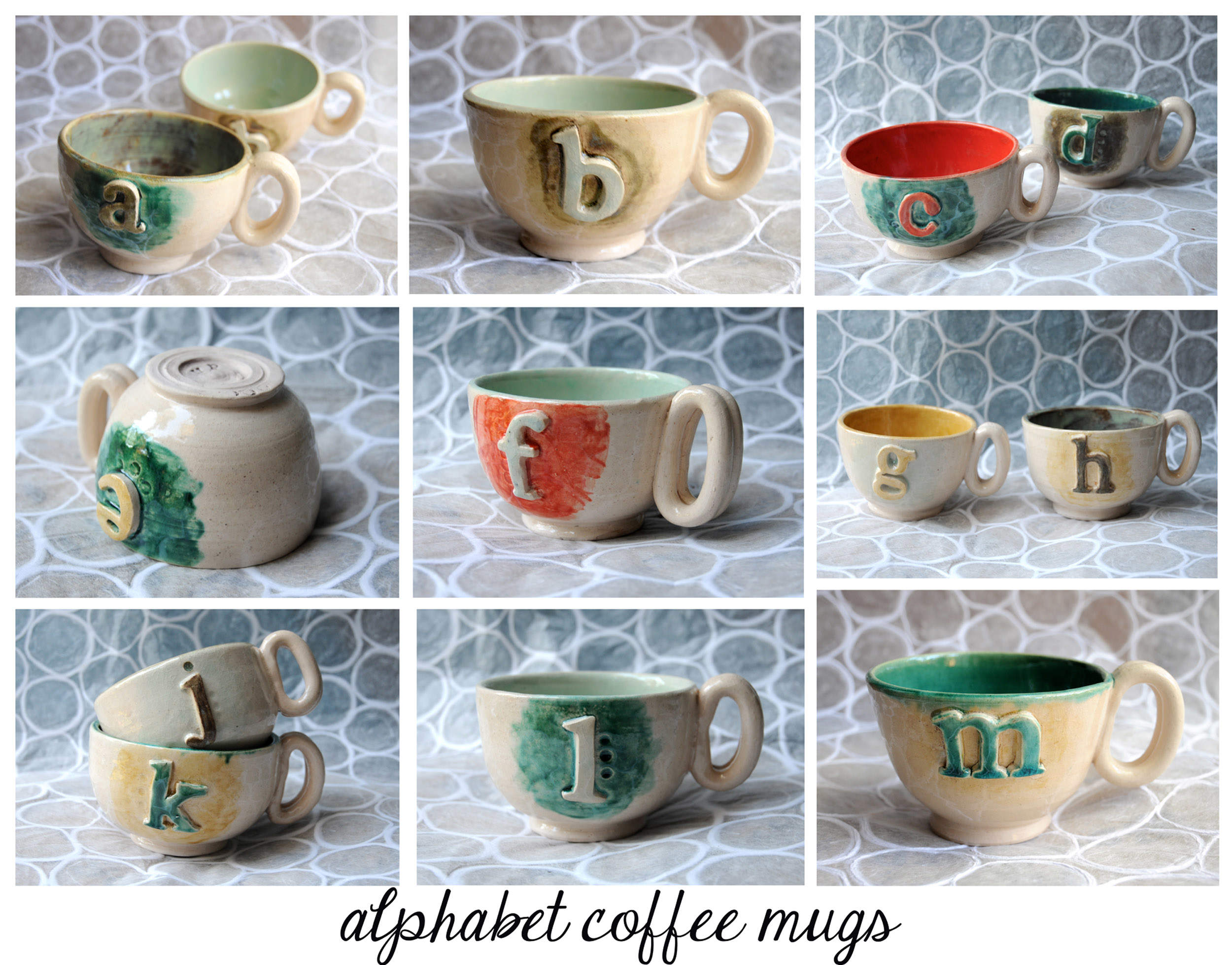 Alphabet Coffee Mugs