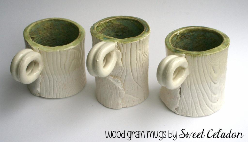 IMG 8167 copy 1024x585 Handmade Ceramics: Wood Grain Mugs and Vases