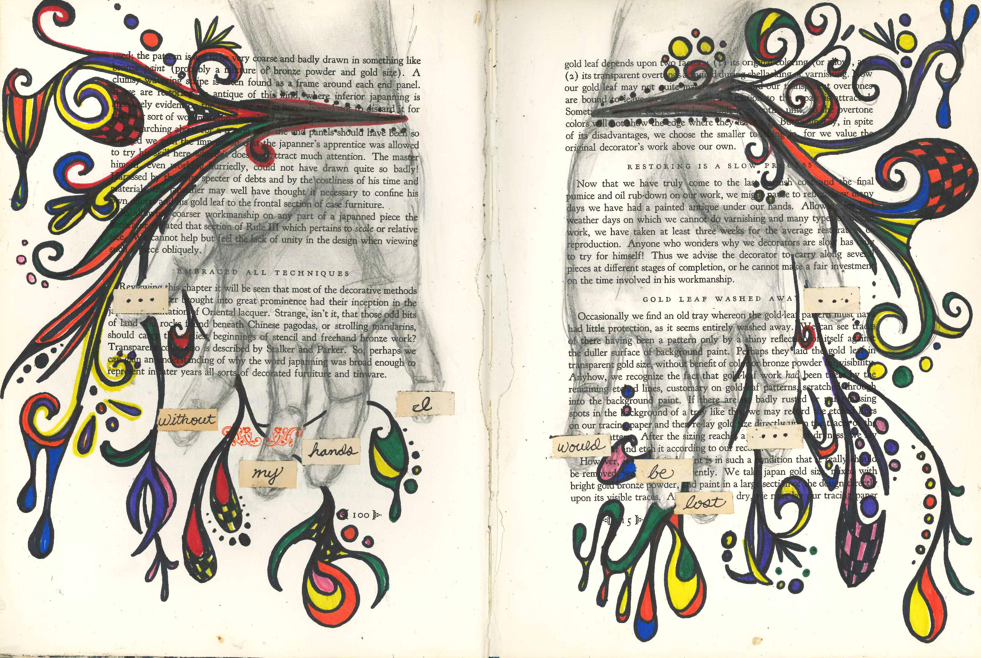 Visual Journal Page 10: My Hands on