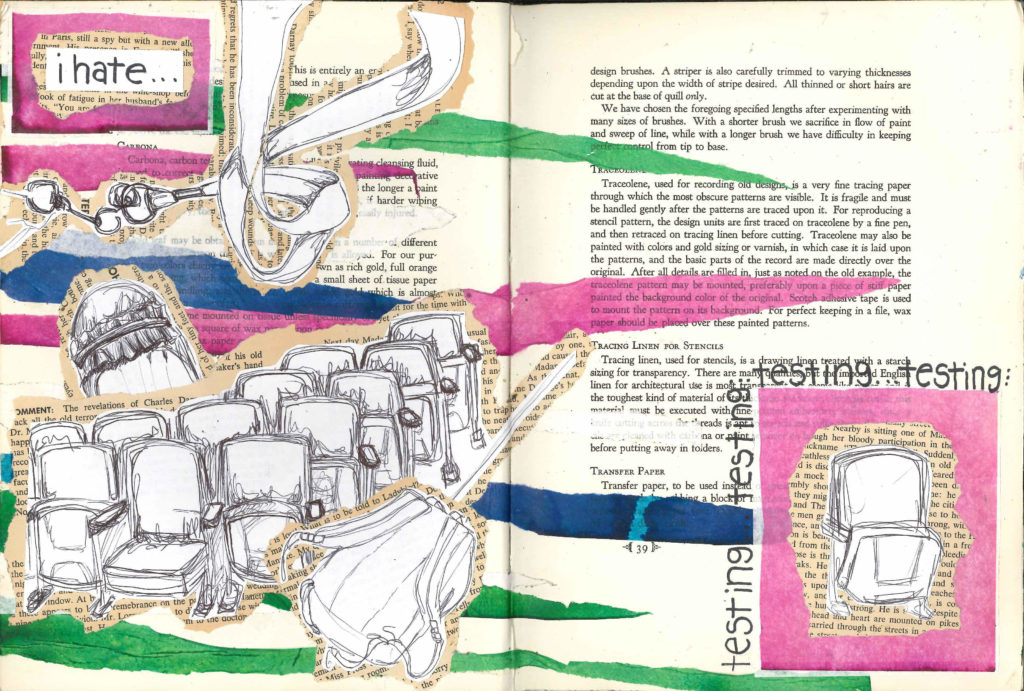 Visual Journal Page 15-Testing