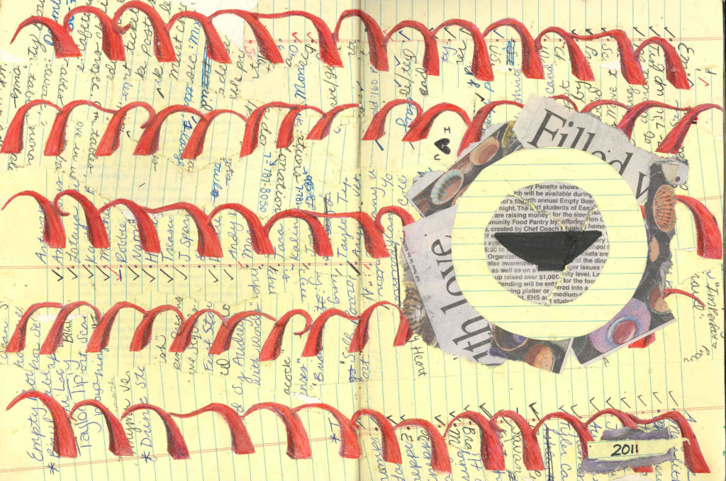 Visual Journal Page 16-Empty Bowls