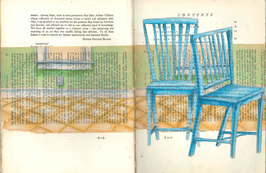 Visual Journal Page 6-Blue Chairs