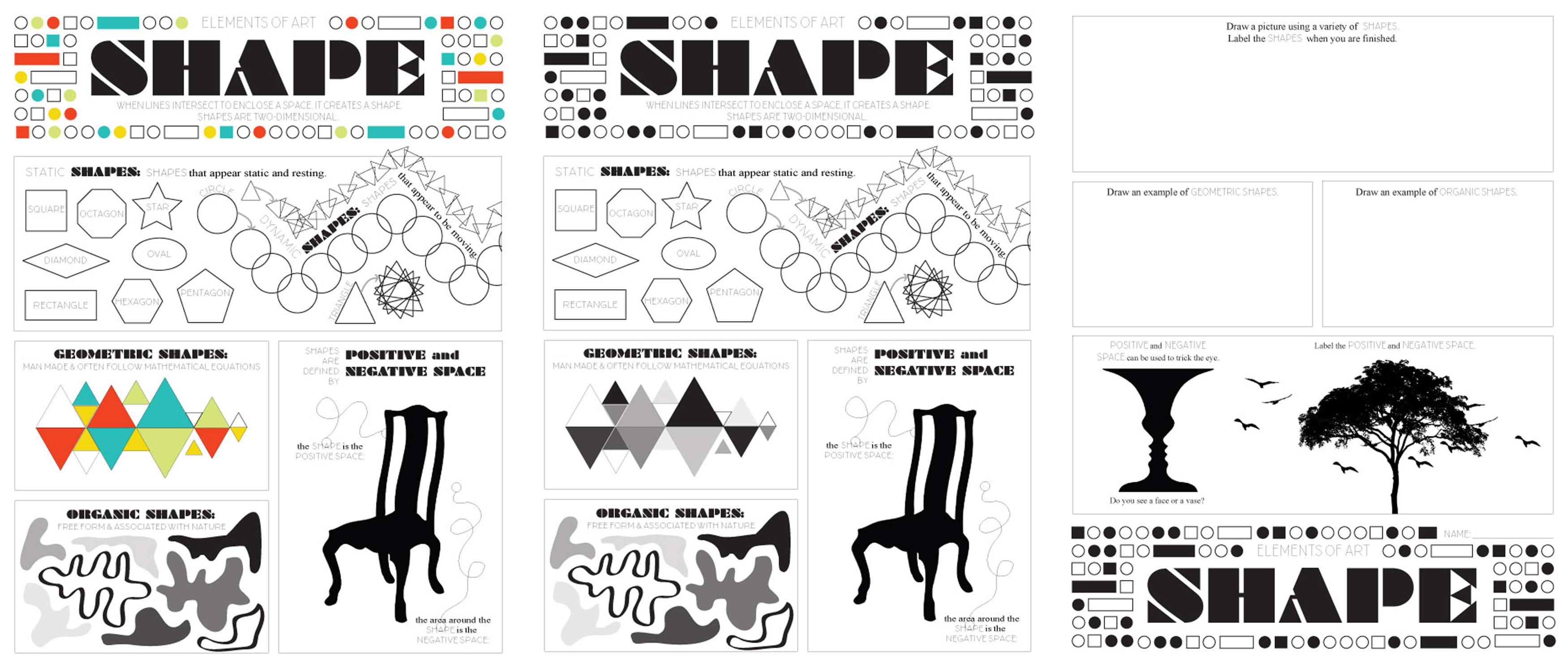 Elements of Art Worksheet Pack TPT Sale Look Between the Lines – Elements of Art Worksheet