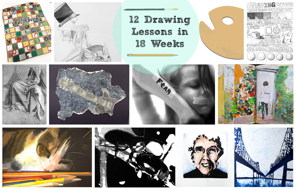Semester High School Drawing Curriculum 12 Lessons In 18 Weeks