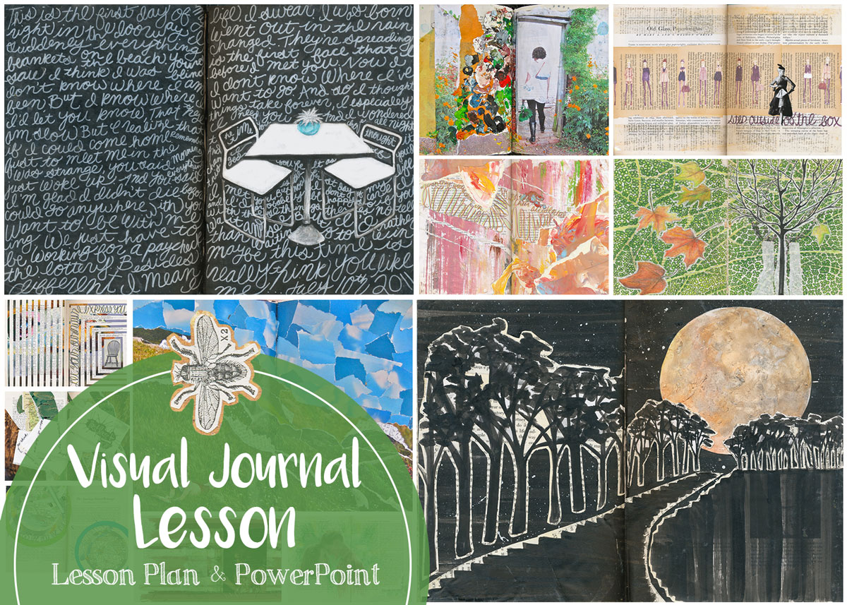 Check out the lesson plan and PowerPoint I use to introduce visual journals to my students every year.
