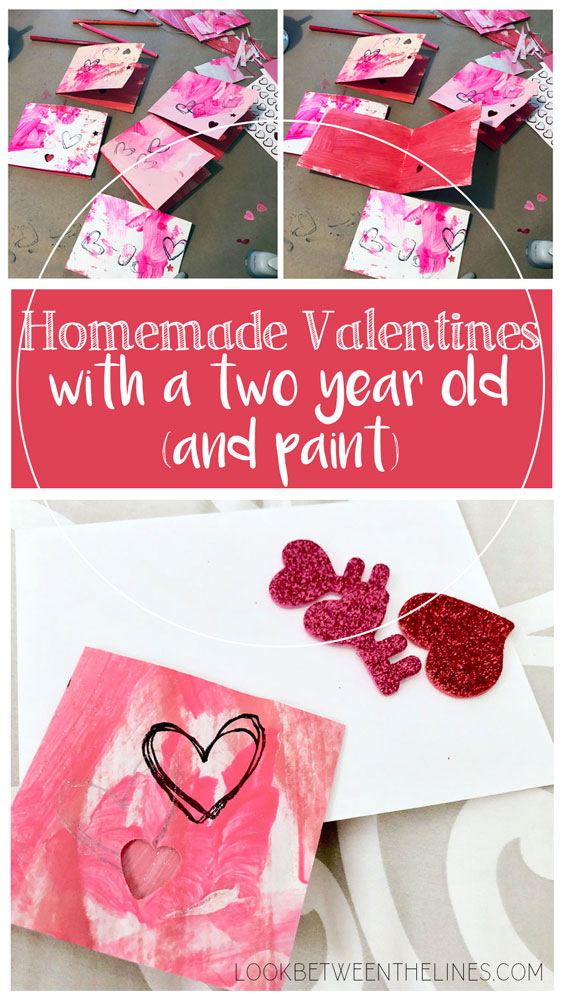 Adventures in making homemade valentines with a two year old, and paint, and stamps, and stickers, and so much more.