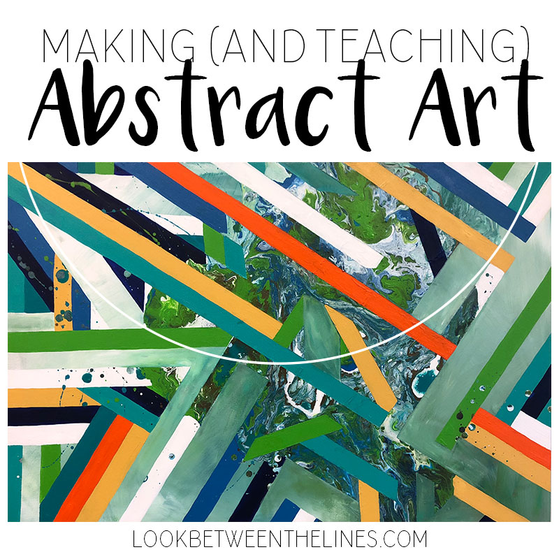 How to create an abstract work of plus how to teach it to high schoolers.