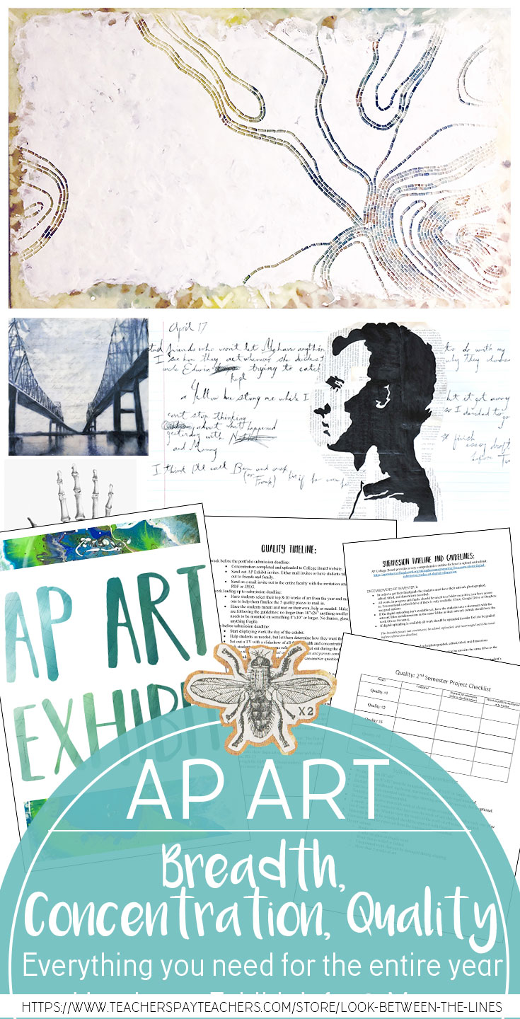 Everything you need to teach an entire year in AP Studio Art including breadth, concentration and quality sections.