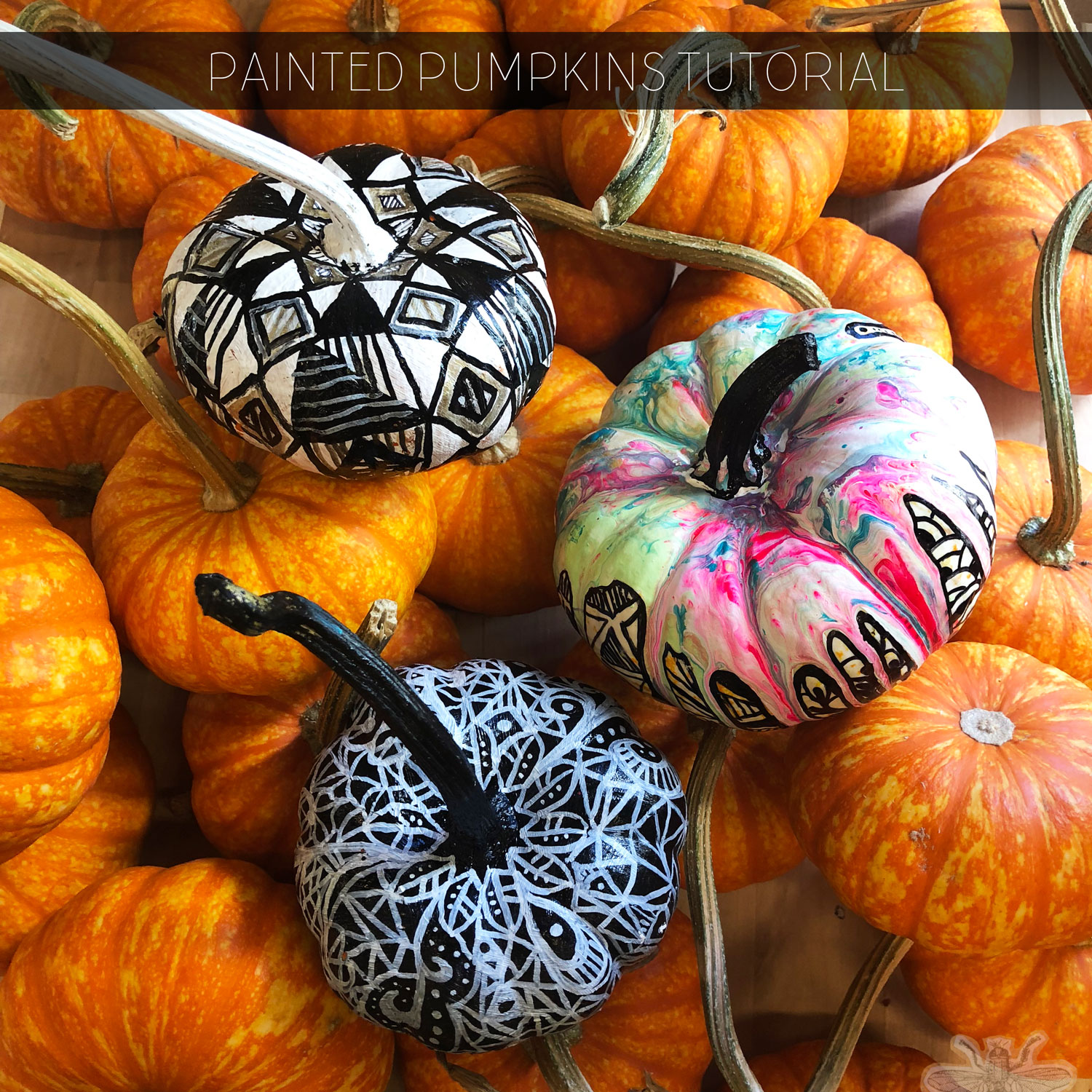 A tutorial on how to artistically paint pumpkins.