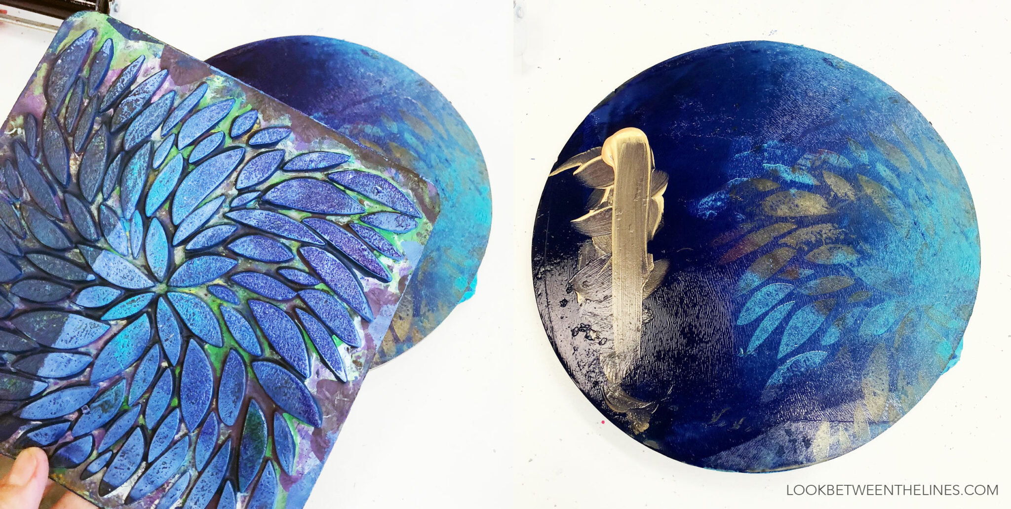 How to press a textured plate into a gelli plate.