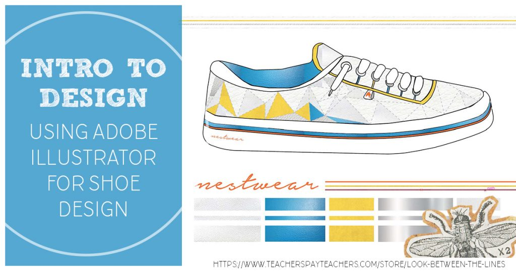 Shoe design project using Illustrator.