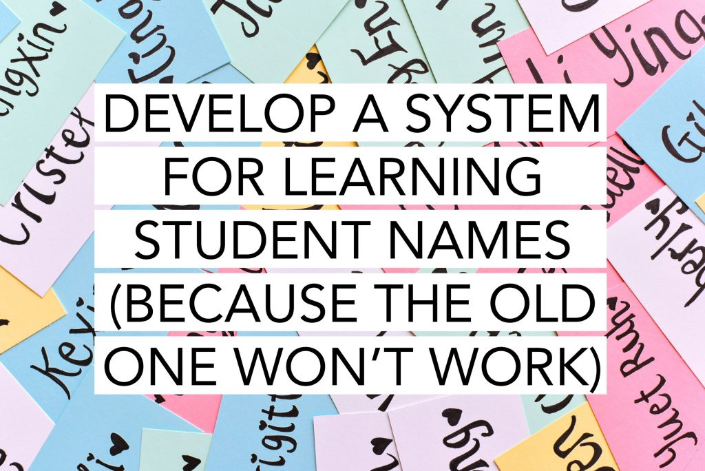 Develop a system for learning student names.
