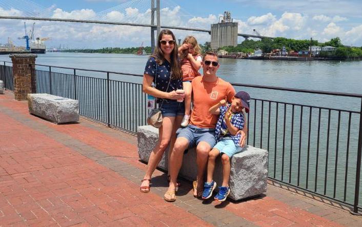 Family picture in Savannah, GA