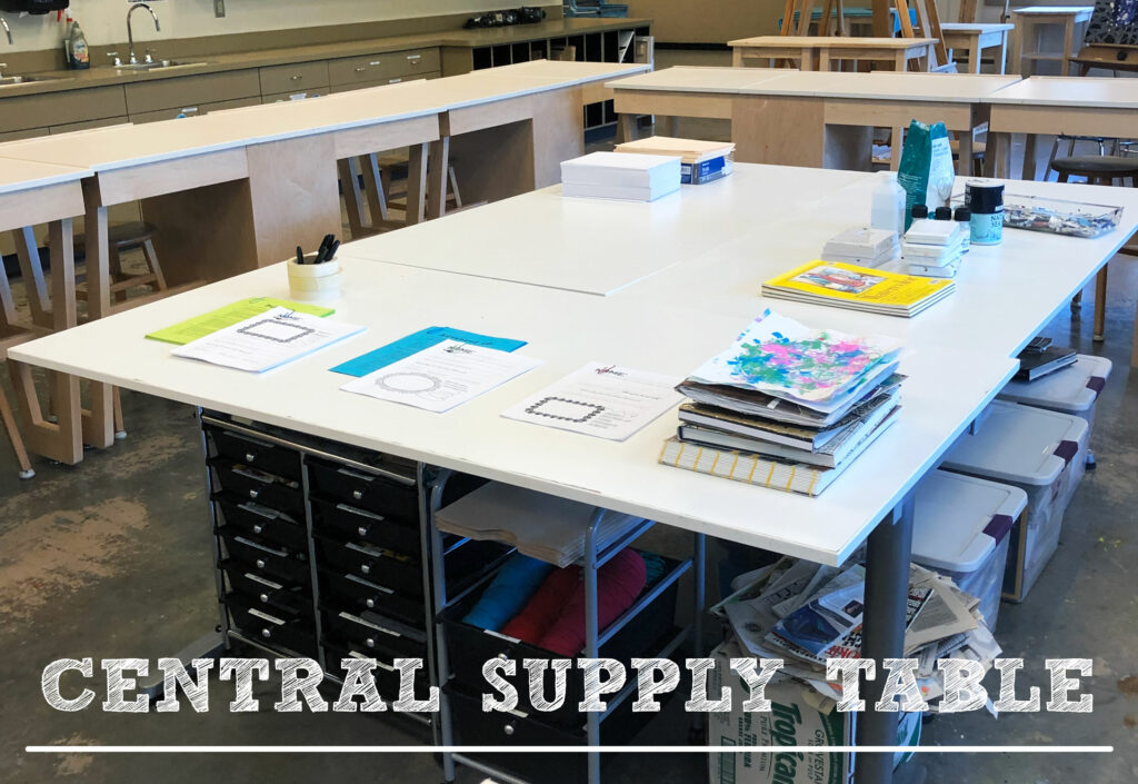 Have a supply table set up for easy access to project supplies.