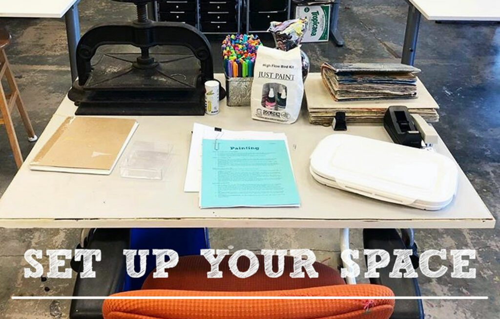 Don't forget your art table in your classroom.